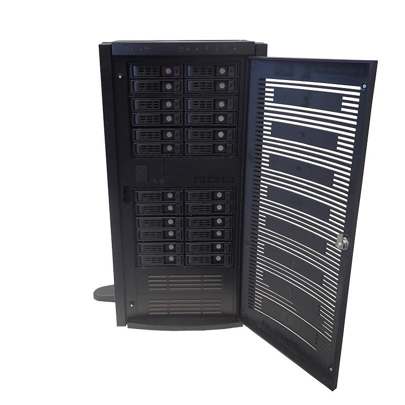 Rackmountable Tower Server/Pedestal Solution Featuring 8 x