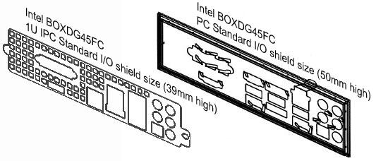 Universal 1U IO shield - PCI Case